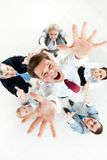 Joyful businessman Stock Photos