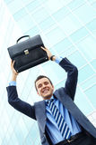 Joyful businessman Royalty Free Stock Photography