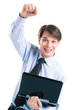 Joyful businessman Royalty Free Stock Photos