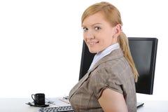 Joyful businesswoman Royalty Free Stock Photo