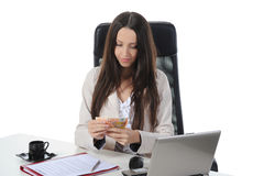 Joyful businesswoman Stock Images