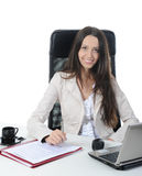 Joyful businesswoman Royalty Free Stock Photo