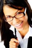 Joyful businesswoman Stock Photo