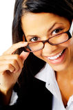 Joyful businesswoman Royalty Free Stock Images