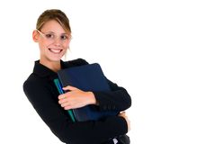 Joyful businesswoman Stock Image