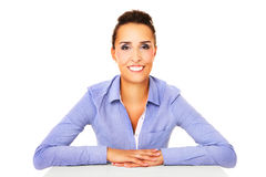 Joyful businesswoman Royalty Free Stock Images