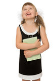 Joyful child with a book Stock Images