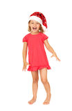 Joyful child in the New Year's cap. Royalty Free Stock Photography