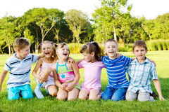 Joyful children Stock Photos
