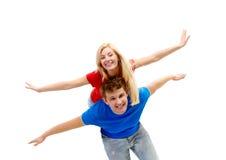Joyful couple Stock Image