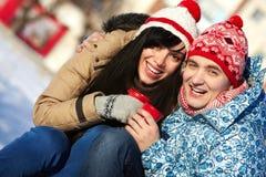 Joyful couple Stock Photos