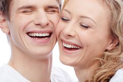 Joyful couple Stock Images