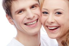 Joyful couple Royalty Free Stock Image