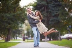 Joyful couple Stock Images