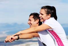 Joyful couple laughing Royalty Free Stock Photo