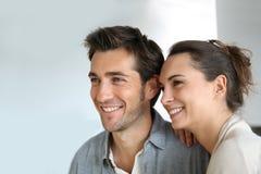 Joyful couple smiling Royalty Free Stock Photography