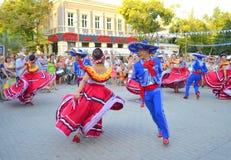 Joyful dance Stock Images
