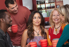 Joyful Diverse Adults with Coffee Royalty Free Stock Image