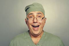 Joyful doctor in uniform Stock Photo