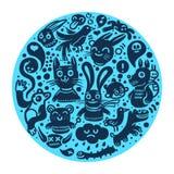Joyful doodles background. A joyful doodles background illustration Stock Photos