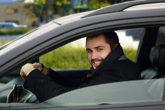 Joyful driver Royalty Free Stock Image