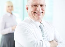 Joyful employer Royalty Free Stock Image