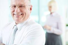 Joyful employer Royalty Free Stock Photos