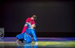 Joyful Encounter-Mongolian prayer-The national folk dance royalty free stock images