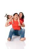 joyful familj Arkivbilder