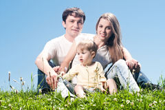joyful familj Arkivfoto