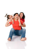 Joyful family Stock Images