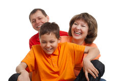 Joyful family Stock Photos