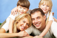 Joyful family Stock Photography
