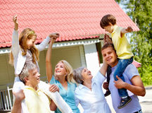 Joyful family Royalty Free Stock Images