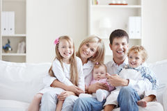 Joyful family Stock Image