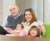 Joyful family with children Stock Photography