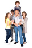 Joyful family of five Stock Photography