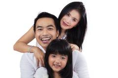 Joyful family in the studio Stock Photos