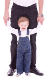 joyful father and his baby son Stock Images