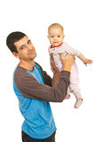 Joyful father playing with his daughter Royalty Free Stock Photo