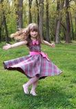 joyful flicka Royaltyfri Bild