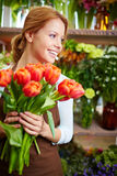 Joyful florist Stock Photography