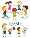joyful folk för grupp royaltyfri illustrationer