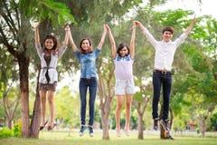Joyful friends Stock Photography