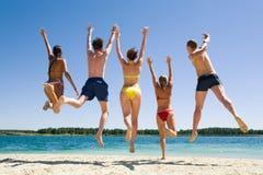 Joyful friends Stock Images