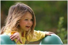 Joyful girl. Young girl playing in Italy Royalty Free Stock Image