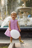 The joyful girl with a ball Royalty Free Stock Images