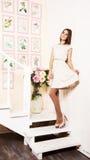 Joyful girl Stock Images