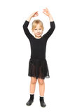 Joyful girl doing aerobics Stock Photo