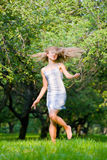 Joyful girl on the nature Royalty Free Stock Photo